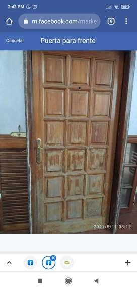 Puerta madera buen estado
