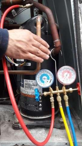 Reaparacion de Aire Central, Instalacion split, Cargas de gas, Mant...