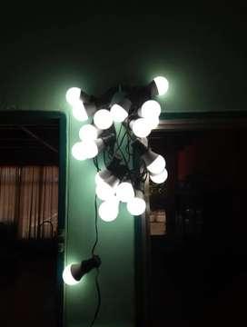 Guirnaldas x 10 mts luces cálidas y frias aptas interior exterior