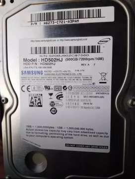 Disco duro de 500gb + cable sata