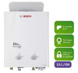 Promoción de calentadores Bosch 5.5 litros no nesecita ducto de evacuación de gases