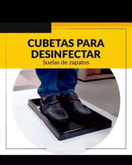 Cubeta para desinfectar suelas de zapatos