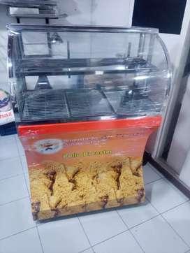 Vitrina pollo broaster y fritadora