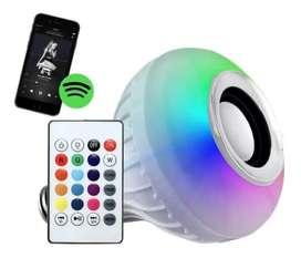 Lampara Parlante Bluetooth Led Rgb 220v  Colores Foco