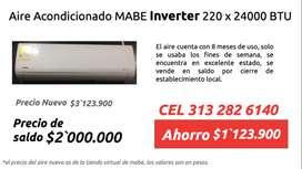 Aire Acondicionado Mabe Inverter 220 x 24000BTU