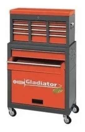 Carro Organizador 6 Cajones Metalico Ruedas Gladiator / Salkor Gh7001