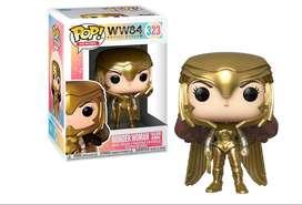 Funko pop Dc Mujer maravilla traje dorado Figuras Juguetes