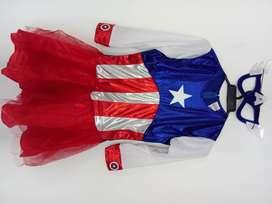 Disfraz Capitana America Talla 16