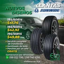 LLANTAS SUNWIDE  185/60 R14 / 185/65 R14 / 195/55 R15