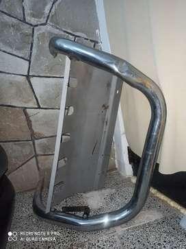 Defensa frontal Ecosport 2012 caño cromado y con chapón cubre Carter