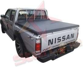 Carpa Plana Nissan Frontier D21 Lona Con Marca Enrollable Riel Aluminio Camioneta Ref MC130 ¡Envío Gratis!