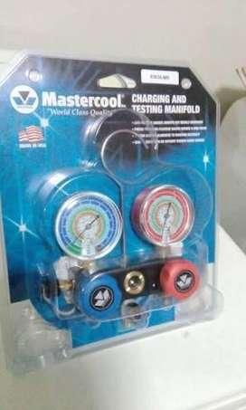 Manómetro mastercool Americano R22, R410, R134