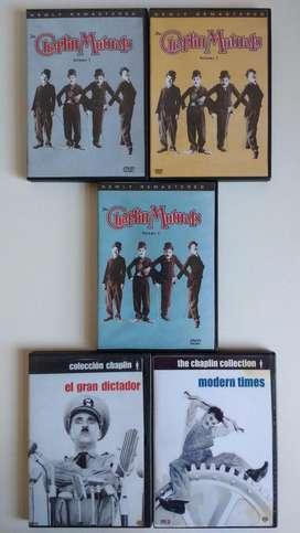 Lote x 8 DVDs Charles Chaplin cdjess