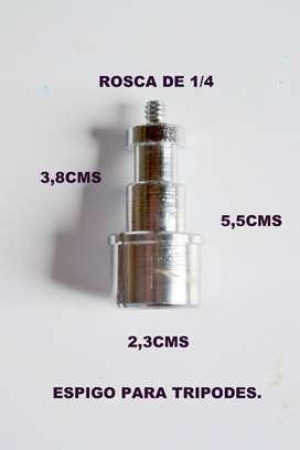 ESPIGO DE REPUESTO ´PARA TRIPODE DE LUZ.  PARA TUBO DE UNA PULGADA BASE DE 23 mm.  Y 5 CMS DE LARGO