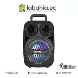 Parlante Caja amplificada  de 10pulg con Bluetooth aux usb y luces