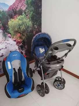 Se vende coche para bebé y silla de bebé en buen estado