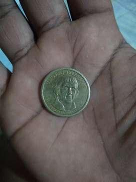 Moneda de Tomás jeferson un dólar presidencial