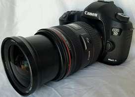 Canon 5D mark lll  Lente Canon 24  70 f2.8 L