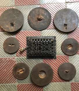Cocinas de fierro accesorios antiguos:Puerta i tapas de cocina antigua