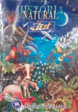 Vendo album Historia Natural JET en buenas condiciones, le faltan algunas láminas.