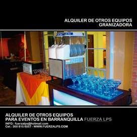 ALQUILER DE GRANIZADORA PARA EVENTOS.