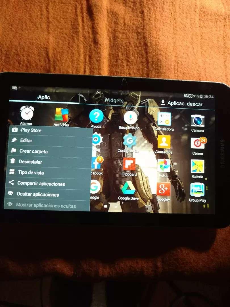 SAMSUNG TAB 3 en PERFECTO FUNCIONAMIENTO! SD hasta 32GB! ANDR 4.4.4 DOBL CAM 3.2MPX! PERMUTAS VARIAS!! 0