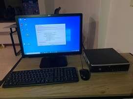 Computador completo HP i5 4GB 500 + monitor + teclado + mouse