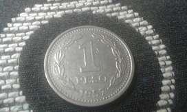 Moneda Argentina De 1 Peso Del Año 1957