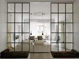 Divisiones en madera o vidrio