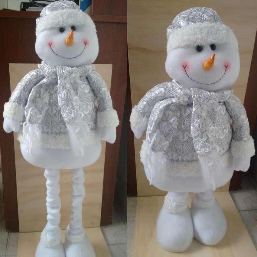 Muñeco Navideño De Nieve Pies Expandibles Garantizado 0