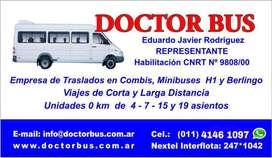 TRASLADOS GRUPALES PROGRAMADOS COMBIS MINIBUSES VANS DOCTOR BUS