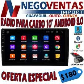 RADIO PANTALLA ANDROID DE 10 PULGADAS BLUETOOTH MIRROR LINK USB SD AUX