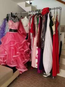 Negocio de alquiler de vestidos