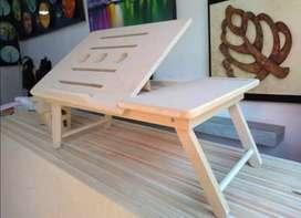 Escritorio Mesa plegable para portatil en madera
