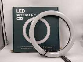 Anillo de luz LED suave de 12 pulgadas con trípode de 2 metros