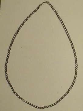 Collar Cadena Metálica Eslabón Torcido Combinado