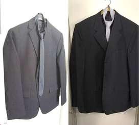 Vendo 2 trajes con corbata talles 48. Precio por c/u