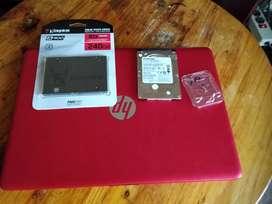 Servicios Cambio disco duro HP Laptop y Instalación Sistema Operativo