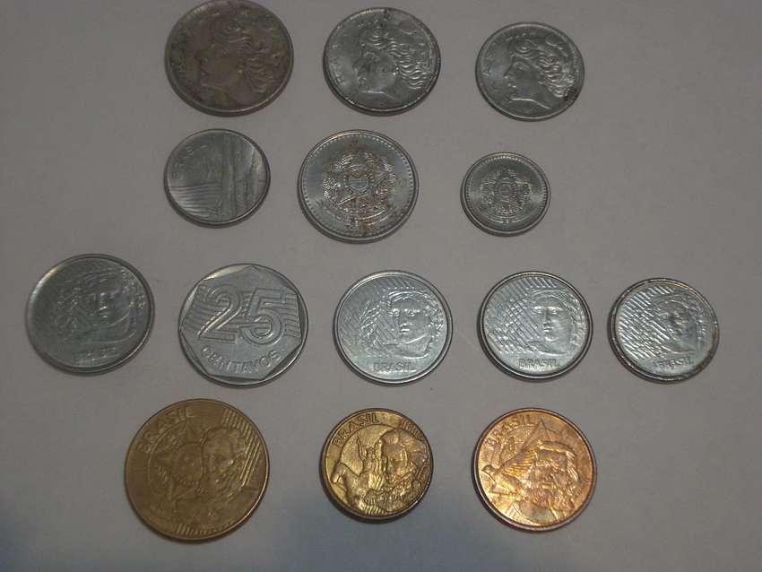 coleccion monedas de brazil x 14u. 0
