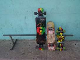 3 skate speed demon y una baranda de 72 pulgada de largo