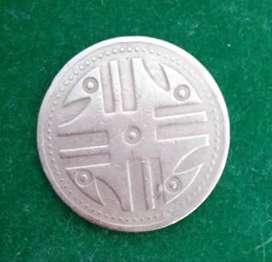 Moneda de 200 pesos de 5 puntos difícil de encontrar