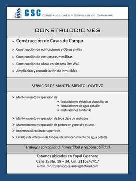 Servicio de mantenimiento locativo y Construcción en general
