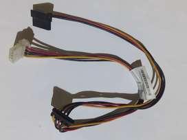 Cable Convertidor Adaptador Poder 2 Sata A Ide 4 Pines Molex