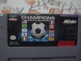 Juego Nintendo Snes Champion World Class Soccer Origina
