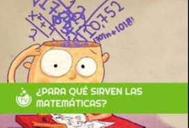 CLASES PARTICULARES DE MATEMATICAS , PROFESORA DE MATEMATICAS