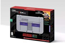 New Nintendo 3ds Xl edicion snes, flasheada con cristal y mica