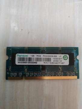 Memoria Ram Ddr2 Laptop 1gb Ramaxel