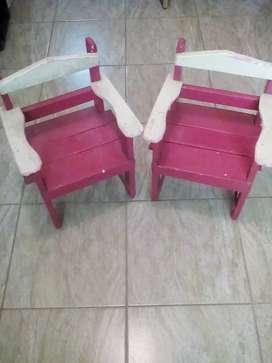 Vendo silla de madera