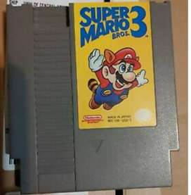 Cartucho de Juego de Video Nintendo Nes Super Mario Bross. 3