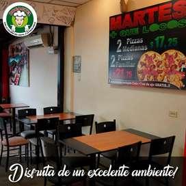 Vendemos Local con Pizzería en sector comercial Norte-Av.Guillermo Pareja y Av. Francisco de Orellana